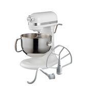 (送不鏽鋼攪拌盆)KitchenAid 桌上型攪拌機升降型6Q-奶油白 (3KSM6583TWH)