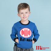 JJLKIDS 男童 rotman印花內刷毛棉質長袖上衣(彩藍)