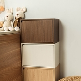 樂嫚妮 收納櫃 木門櫃-附門-五色淺胡桃木色