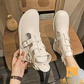 馬丁靴女英倫風百搭透氣鏤空機車靴短靴【慢客生活】