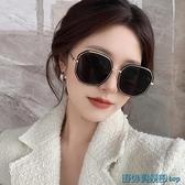 墨鏡 復古韓版網紅大框黑色太陽鏡女ins圓臉顯臉小街拍防紫外線墨鏡潮 快速出貨
