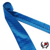 極品西服 100%絲質義大利手工領帶_藍底小圓點(YT5069)