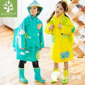 韓國可愛兒童雨衣小學生帶書包位男女童長款小孩幼兒防水雨披-奇幻樂園