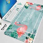 火烈鳥超大號鼠標墊子電腦鍵盤桌墊加厚家用辦公定制卡通可愛女生「輕時光」