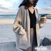 慵懶風毛衣外套女秋冬2021新款韓版寬鬆針織開衫秋天學生上衣服女