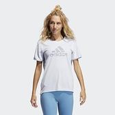 Adidas BOS NECESSI-TEE 女款藍色運動短袖上衣-NO.GQ9413
