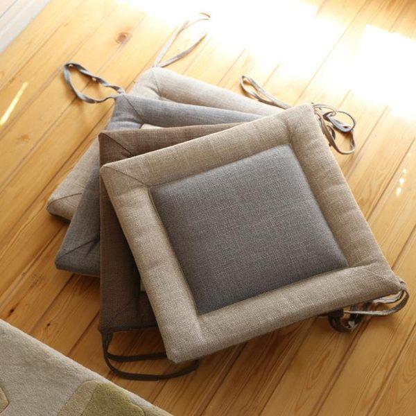亞麻透氣坐墊椅墊餐椅加厚軟墊「巴黎街頭」