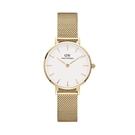 【台南 時代鐘錶 Daniel Wellington】DW00100350 Petite Evergold 28mm 淺金 DW 米蘭錶帶