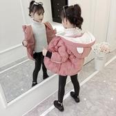 兒童棉衣 女童羽絨服2019新兒童冬季棉衣洋氣寶寶外套中款冬裝小女孩襖加厚