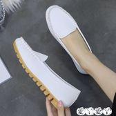豆豆鞋 護士鞋秋冬女懶人百搭牛津軟底孕婦鞋平底淺口單鞋豆豆鞋 新品