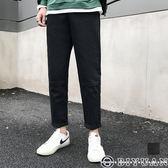 【OBIYUAN】工作褲 百搭素面 學院風 顯瘦 直筒休閒長褲 共1色【FJSHG62】