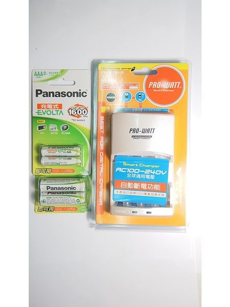 全館免運費【電池天地】 PRO-WATT PW1236兩迴路充電器+國際牌 EVOLTA 低自放充電池3號+4號/4顆