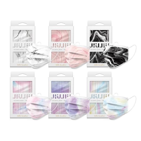 親親JIUJIU~印花三層防護口罩(10入) 高雅設計 款式可選【小三美日】