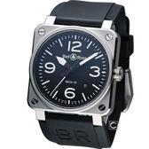 Bell & Ross 飛鷹戰士自動機械腕錶 BR0392-BL-ST/SRU