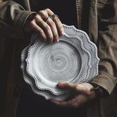 日式餐具盤子菜盤家用復古西餐盤