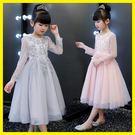 年終大促女童公主裙兒童裝主持人花童婚紗裙...