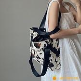 奶牛紋大容量手提女包單肩斜跨大包托特包【小橘子】