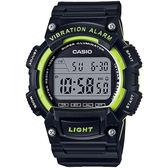 CASIO 人氣商品運動休閒腕錶(黑X綠)_W-736H-3A