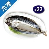 鯖魚一夜干200~240g/包X22/組【愛買冷凍】