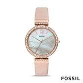 FOSSIL MADELINE 粉色珍珠貝面鑲鑽女錶 38mm