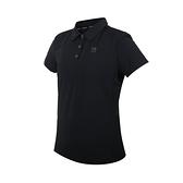 FIRESTAR 女彈性機能短袖POLO衫(運動 慢跑 上衣 涼感 高爾夫 炫彩反光≡體院≡ DL168-10
