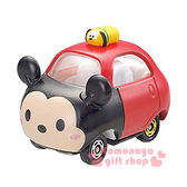 〔小禮堂〕迪士尼 TSUM TSUM 米奇 TOMICA小汽車《紅黑.Q版》經典造型值得收藏4904810-83486
