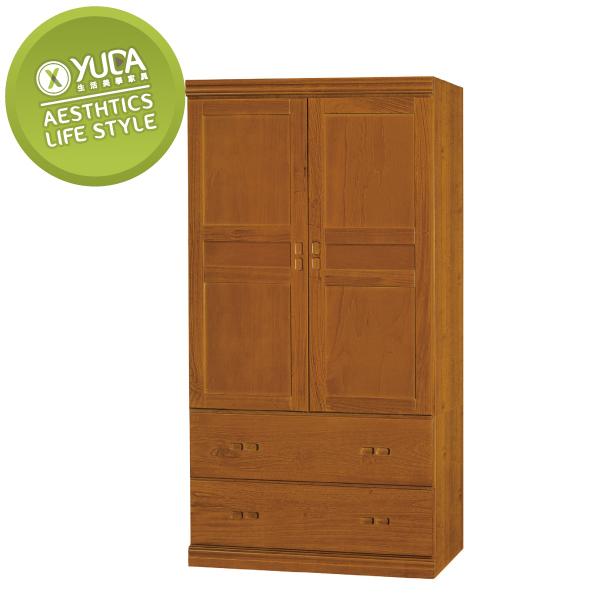 衣櫃【YUDA】懷舊 中式 實木 3*6尺 3大抽 衣櫥/櫥櫃 K9F 190-4