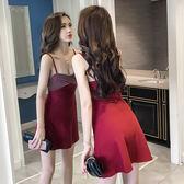 春夏夜店露背性感吊帶抹胸連身裙女裝氣質無袖修身背心打底a字裙
