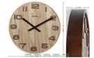 W百貨GeekCook挪威森林撞色原木掛鐘掛表 靜音現代客廳臥室辦公時鐘圓MY~481