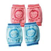 PUKU 藍色企鵝護膝襪套F 藍色粉紅