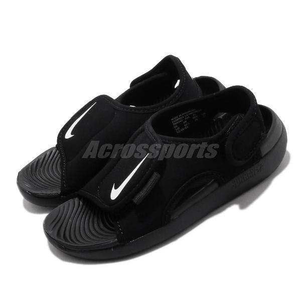 Nike 涼拖鞋 Sunray Adjust 5 V2 GS PS 黑 白 中童鞋 大童鞋 女鞋 涼鞋 【ACS】 DB9562-001
