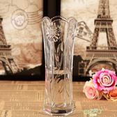 花瓶 玻璃透明花瓶綠蘿水培富貴竹花瓶擺件客廳插花干花落地花器大花瓶