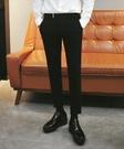 找到自己 品牌 時尚休閒 男士 純色素面 九分褲 男士西褲