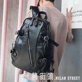 後背包男 後背包男士韓版背包高中學生書包時尚旅行包休閒包女電腦包潮男包 米蘭街頭