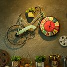 壁掛復古自行車掛鐘壁掛創意墻飾客廳臥室裝飾品家居墻上鐘錶個性掛件 雙12交換禮物
