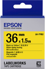 LK-7YB2 EPSON 磁鐵系列黃底黑字標籤帶(寬度36mm) C53S657406