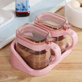 廚房用品味精佐料瓶收納盒油壺調味瓶罐套裝 ZL748『夢幻家居』