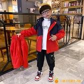 兒童裝男童沖鋒衣三合一可拆卸春秋款2021年新款春裝洋氣夾克外套【小橘子】