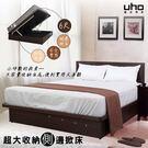 床底【UHO】超大收納側邊掀床-6尺雙人加大