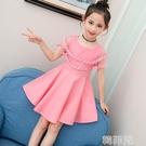 女童連身裙 新款純棉女童連身裙夏季公主裙韓版中大童小女孩兒童洋氣裙子 韓菲兒