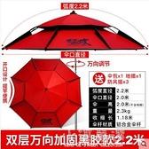 釣魚傘大釣傘萬向防雨防暴雨釣傘加厚防曬雨傘遮陽傘CY『小淇嚴選』