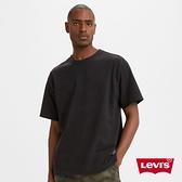 Levis 男款 短袖T恤 / 寬鬆休閒版型 / 質感網眼布 / 魚子黑