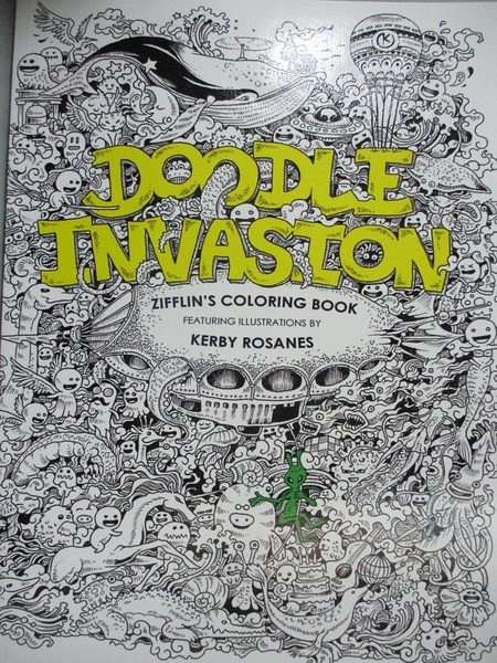 【書寶二手書T8/藝術_QNZ】Doodle Invasion Adult Coloring Book: Zifflin