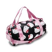 Converse 手提袋 Hello Kitty Duffel Bag 黑 白 紅 女款 聯名 圓筒包 【PUMP306】 10008214A01