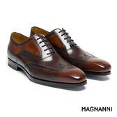 【MAGNANNI】古典翼紋紳士皮鞋 棕色(17354-COG)
