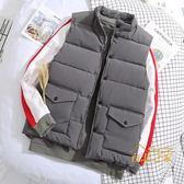 背心外套羽絨棉馬甲男款韓版潮流網紅同款棉服多口袋坎肩冬季工裝馬夾