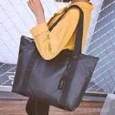 托特包 女包簡約歐美百搭大容量托特包尼龍牛津布單肩包手提包潮