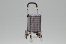 [ 家事達 ]台灣 GTMH- H-001N-3W 鋁製購物籃車(玫瑰金)+購物袋 - 爬階輪 特價