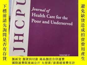 二手書博民逛書店Journal罕見of Health Care for the