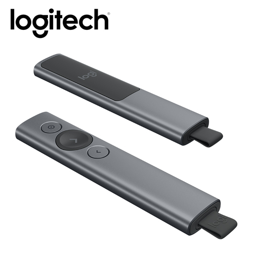 【logitech 羅技】SPOTLIGHT簡報器-質感灰